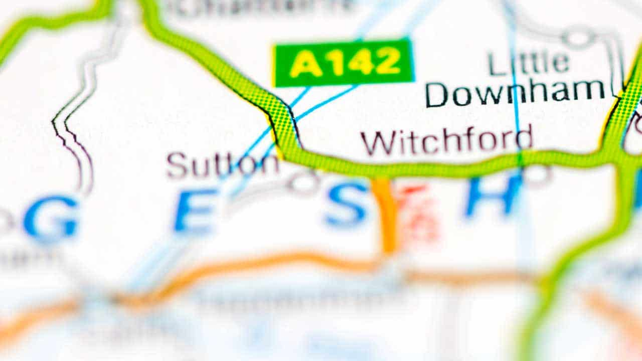 Phone repair Sutton-in-the-Isle Cambridgeshire shop map.