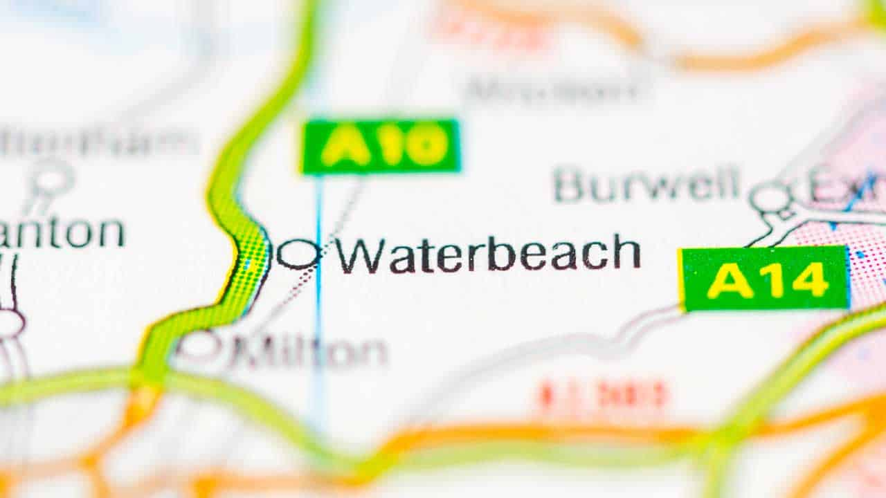 Phone repair Waterbeach Cambridgeshire shop map.