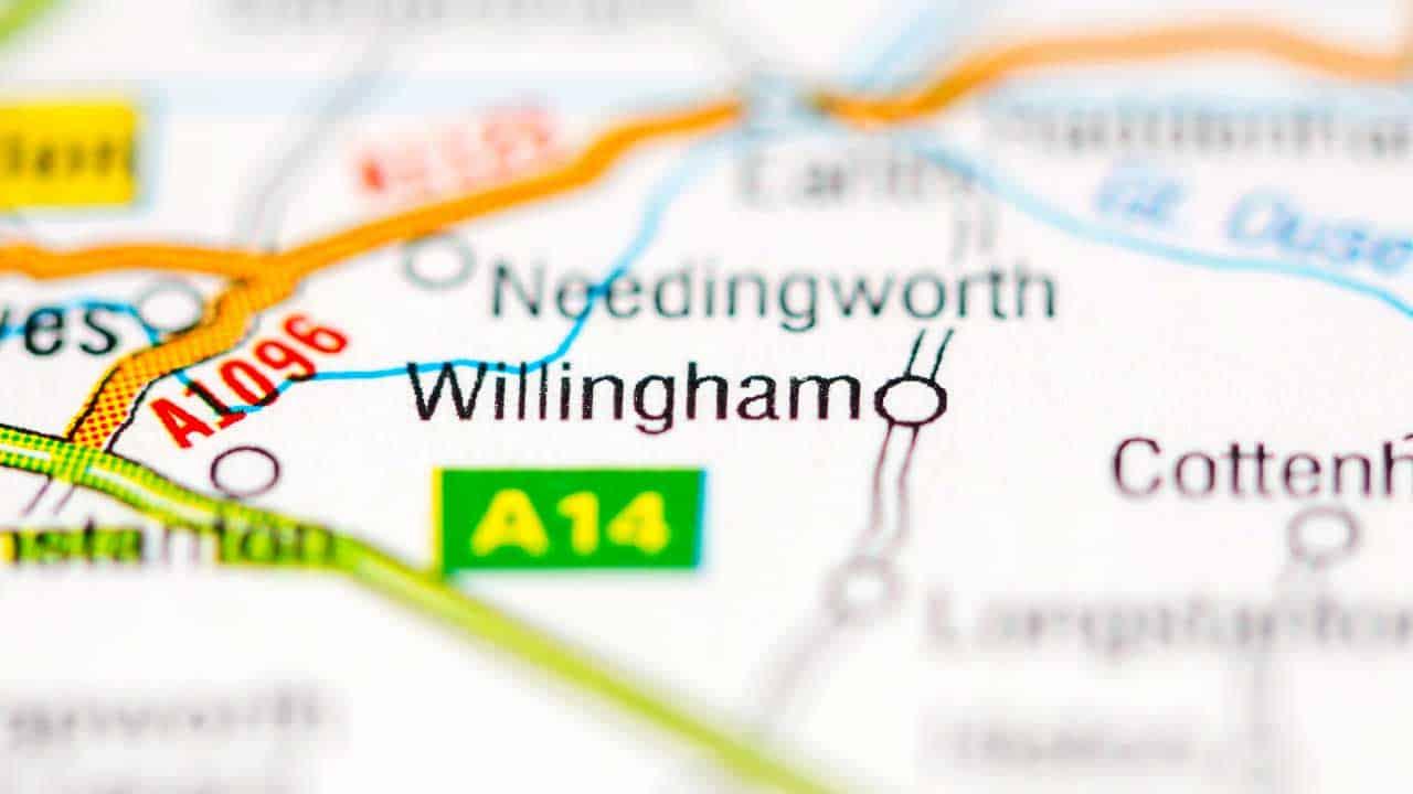 Phone repair Willingham Cambridgeshire shop map.