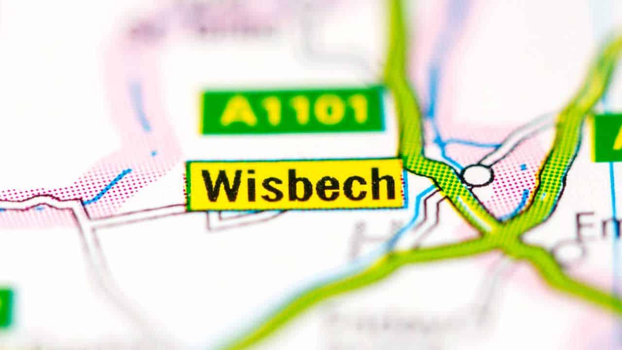 Phone repair Wisbech Cambridgeshire shop map.