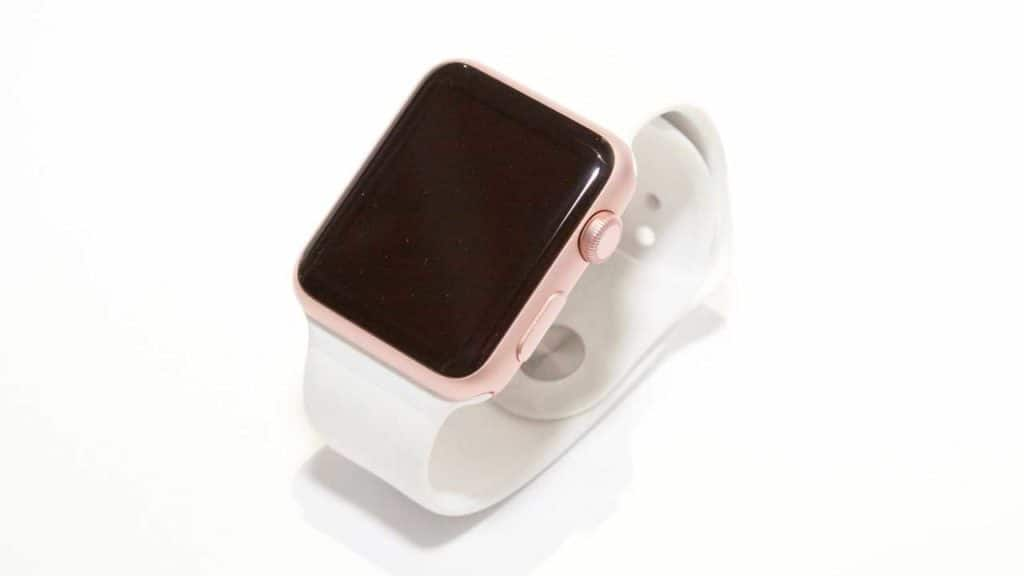 Apple watch face white band.