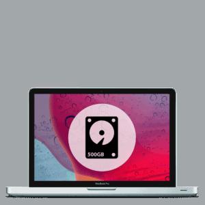Apple MacBook Pro 500GB hard drive replacement repair.