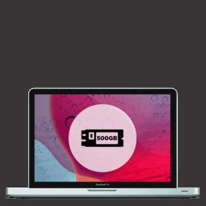Apple MacBook Pro 500GB SSD replacement repair.