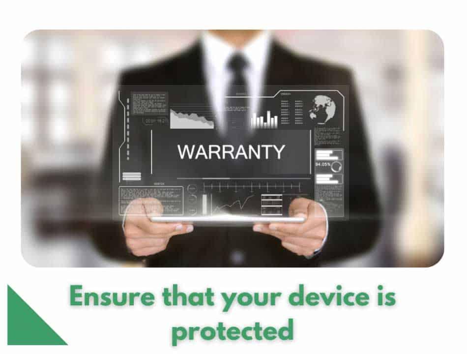 Phone repair protection warranty.