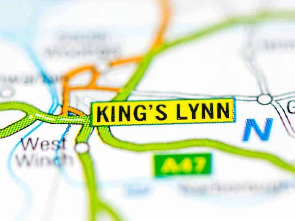 Mobile phone repair King's Lynn shop map in Norfolk UK.