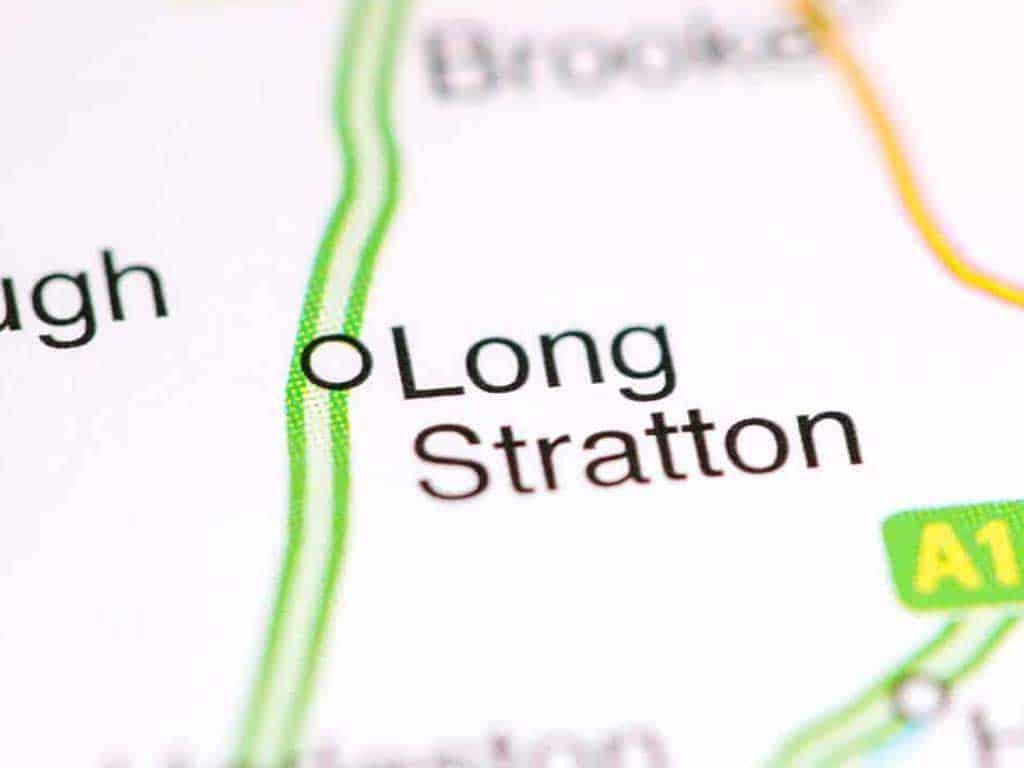 Mobile phone repair Long Stratton shop map in Norfolk UK.