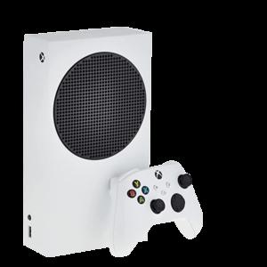 A Microsoft Xbox Series S console in white colour.