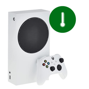 A Microsoft Xbox Series S overheating problem repair in our shop.
