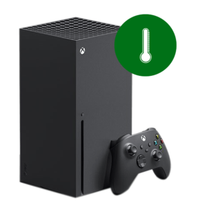 A Microsoft Xbox Series X overheating problem repair in our shop.
