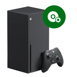 A Microsoft Xbox Series X software reinstallation in our shop.